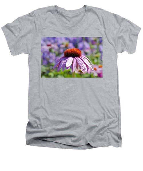 Coneflower Men's V-Neck T-Shirt by Lana Enderle