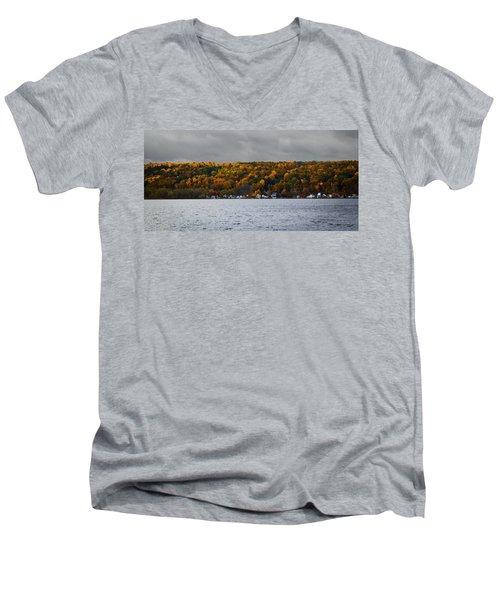 Conesus Lake Autumn Men's V-Neck T-Shirt