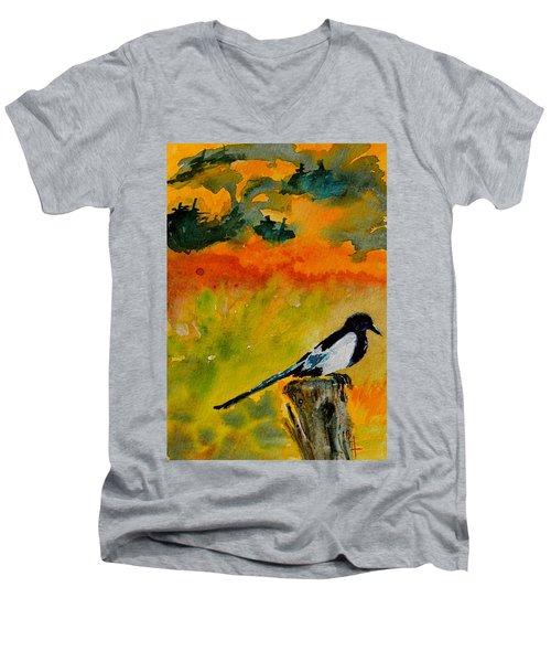 Consider Men's V-Neck T-Shirt by Beverley Harper Tinsley