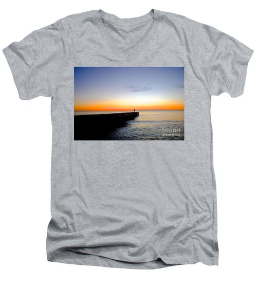 Men's V-Neck T-Shirt featuring the photograph Contemplating The Meaning Of Life by Margie Amberge