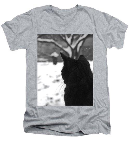 Contemplating Winter Men's V-Neck T-Shirt