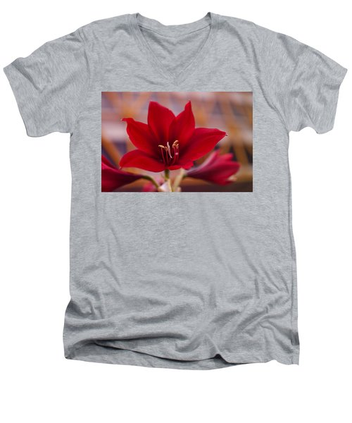 Content Tropics Men's V-Neck T-Shirt by Miguel Winterpacht