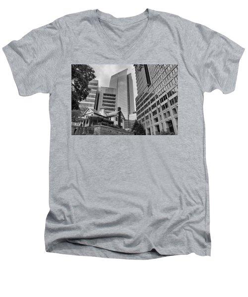 Contrasting Southern Architecture Men's V-Neck T-Shirt by Douglas Barnard