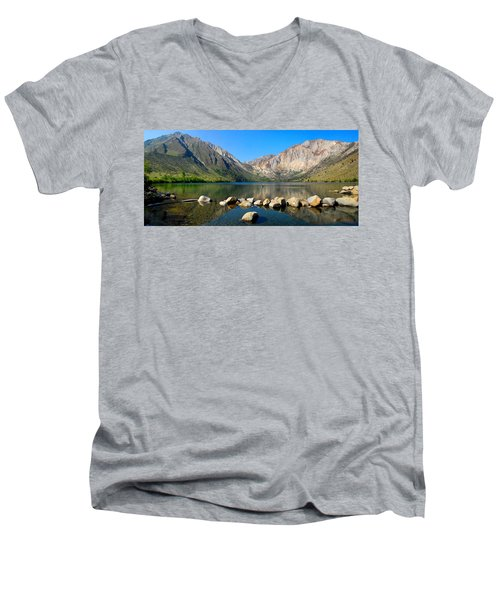 Convict Lake Panorama Men's V-Neck T-Shirt