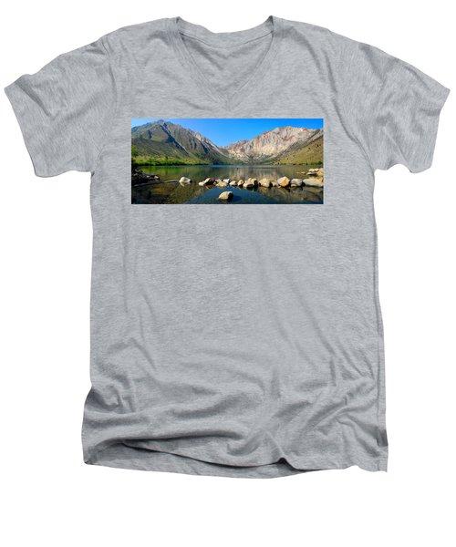 Convict Lake Panorama Men's V-Neck T-Shirt