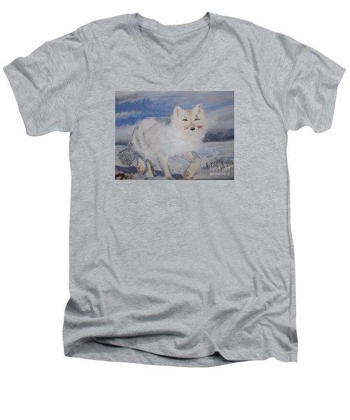 Cool Fox Men's V-Neck T-Shirt by Francine Heykoop