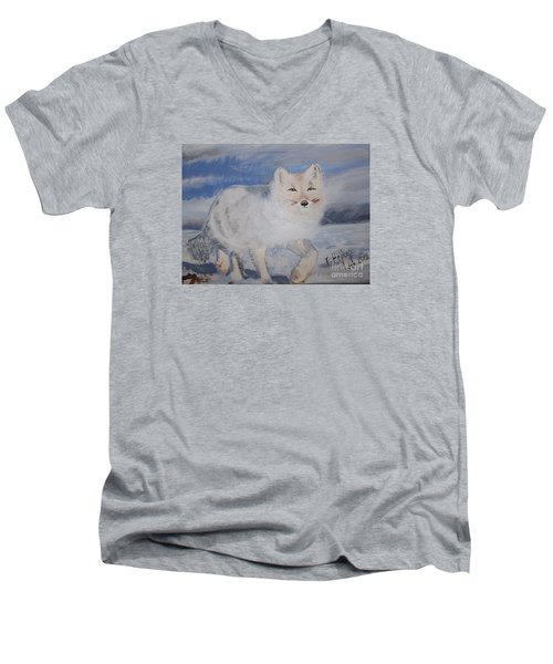 Cool Fox Men's V-Neck T-Shirt
