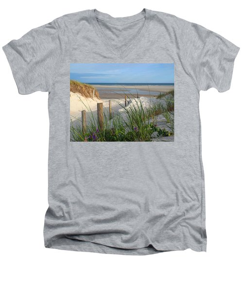 Cool Of Morning Men's V-Neck T-Shirt by Dianne Cowen