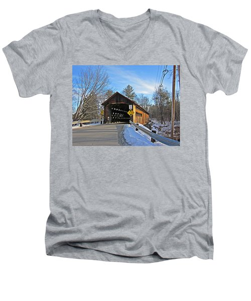 Coombs Covered Bridge Men's V-Neck T-Shirt