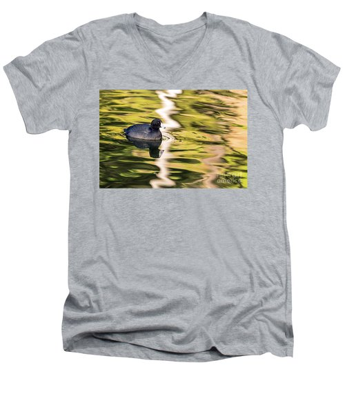Coot Reflected Men's V-Neck T-Shirt