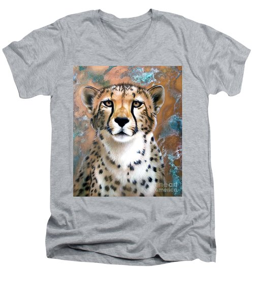 Copper Flash - Cheetah Men's V-Neck T-Shirt