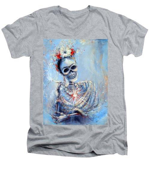Corazon De Frida Men's V-Neck T-Shirt