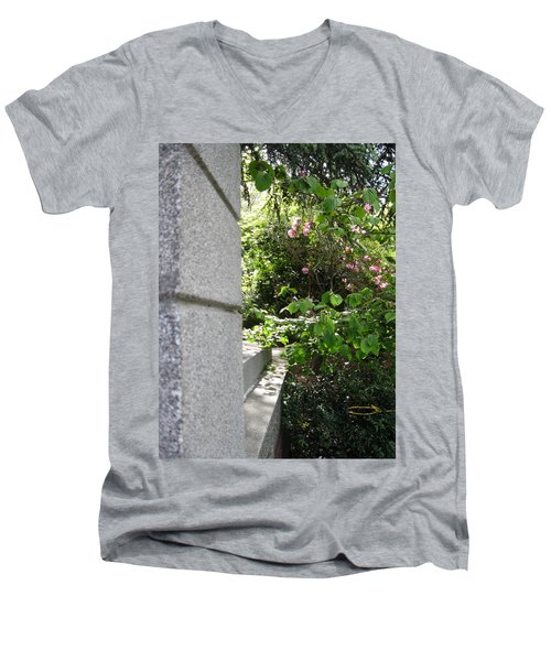 Corner Garden Men's V-Neck T-Shirt by David Trotter