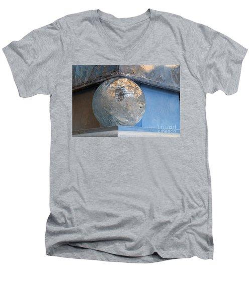 Men's V-Neck T-Shirt featuring the photograph Corner  by Gunter Nezhoda