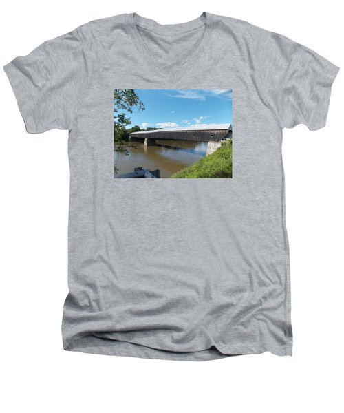 Cornish Windsor Bridge Men's V-Neck T-Shirt by Catherine Gagne