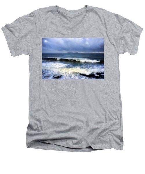 Coronado Islands In Storm Men's V-Neck T-Shirt by Hugh Smith