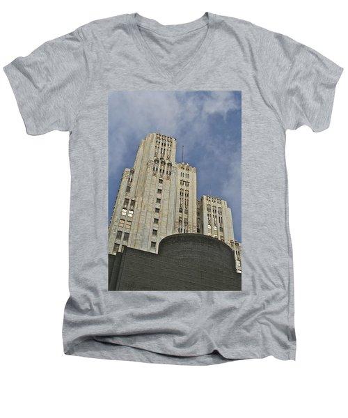 Corporate Monolith  Men's V-Neck T-Shirt