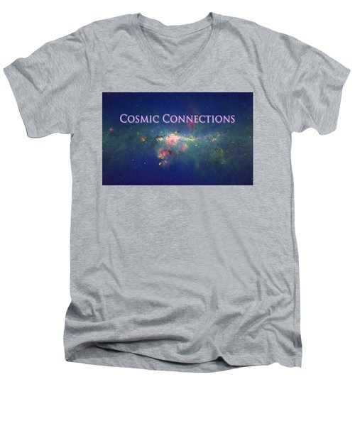 Cosmic Connections Men's V-Neck T-Shirt by Lanita Williams