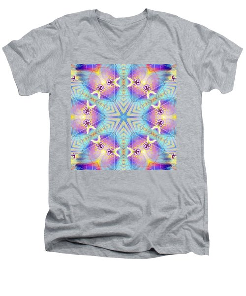 Cosmic Spiral Kaleidoscope 17 Men's V-Neck T-Shirt