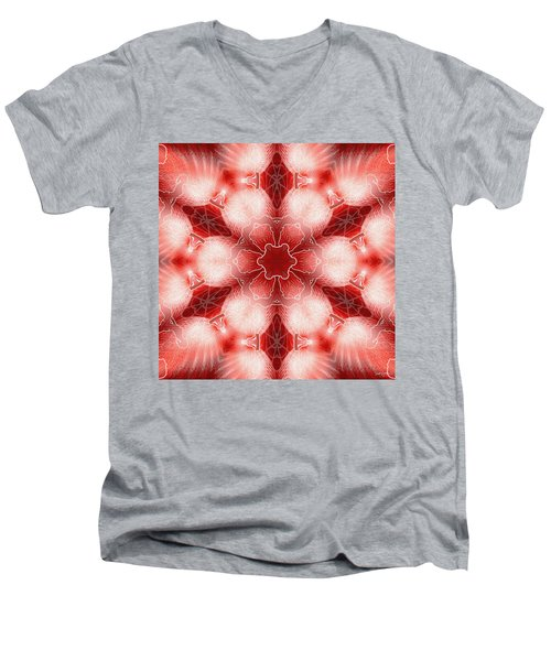 Cosmic Spiral Kaleidoscope 22 Men's V-Neck T-Shirt