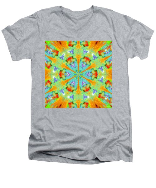 Cosmic Spiral Kaleidoscope 41 Men's V-Neck T-Shirt