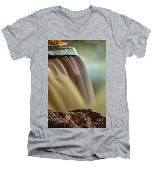 Cotton Candy Falls Men's V-Neck T-Shirt