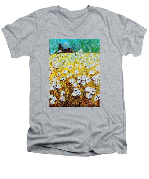 Cotton Fields Back Home Men's V-Neck T-Shirt