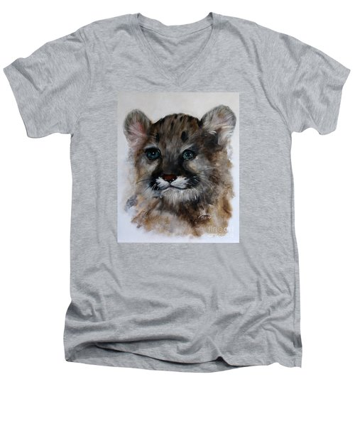Antares - Cougar Cub Men's V-Neck T-Shirt by Barbie Batson