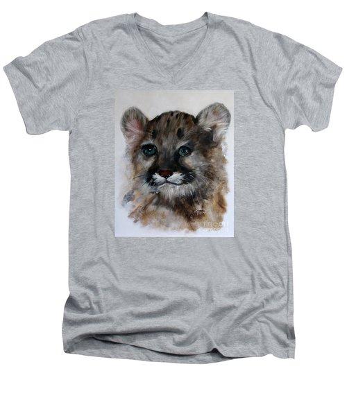 Antares - Cougar Cub Men's V-Neck T-Shirt