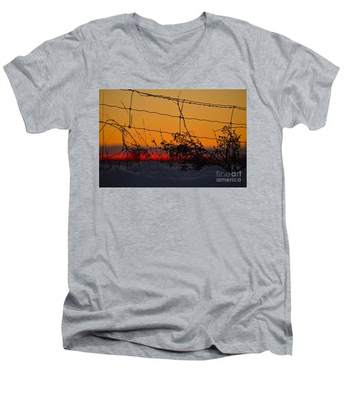 Country Fence Men's V-Neck T-Shirt