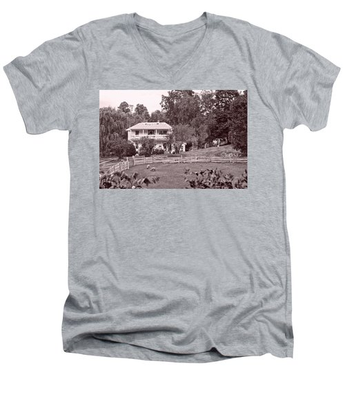 Country Life Men's V-Neck T-Shirt by Denise Romano