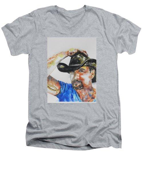 Country Singer Tim Mcgraw 02 Men's V-Neck T-Shirt