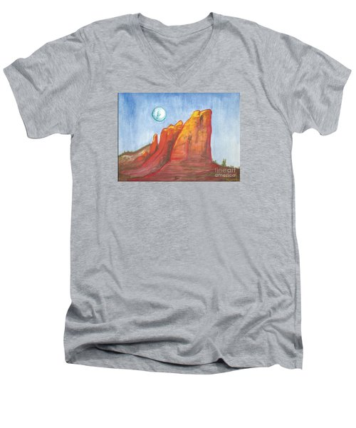 Court House Butte  Men's V-Neck T-Shirt