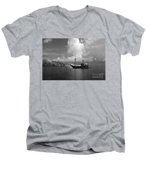Men's V-Neck T-Shirt featuring the photograph Cove  by Sergey Lukashin