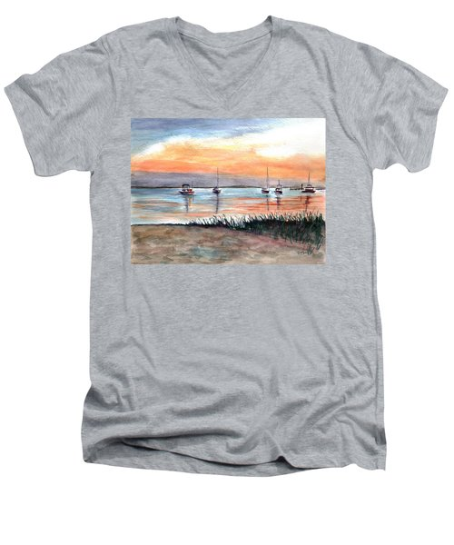 Cove Sunrise Men's V-Neck T-Shirt