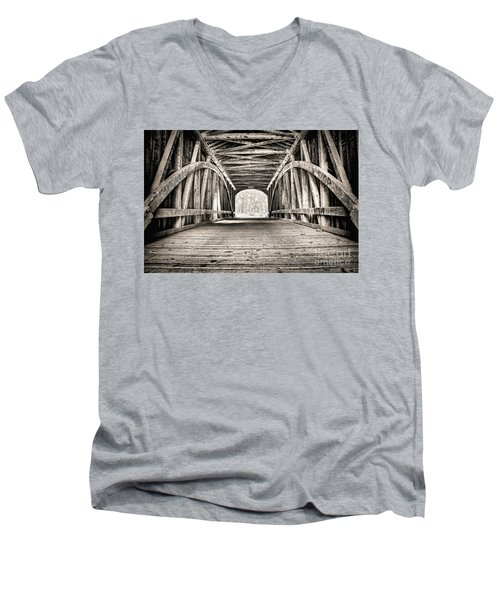 Covered Bridge B N W Men's V-Neck T-Shirt