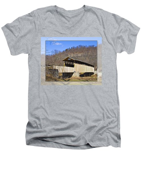 Covered Bridge In Pa. Men's V-Neck T-Shirt