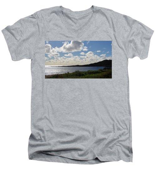 Cowaramup Bay 2.2 Men's V-Neck T-Shirt by Cheryl Miller