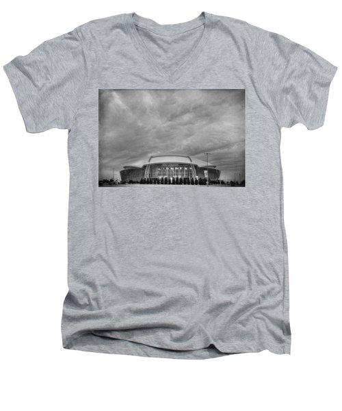 Cowboy Stadium Bw Men's V-Neck T-Shirt