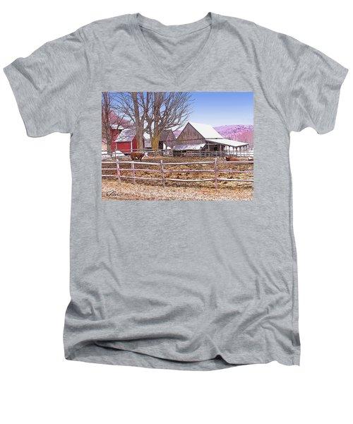 Cows At Jenne Farm Men's V-Neck T-Shirt
