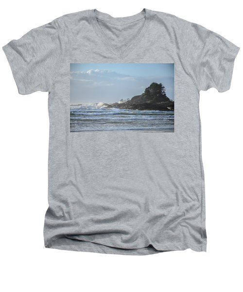Cox Bay Afternoon Waves Men's V-Neck T-Shirt by Roxy Hurtubise