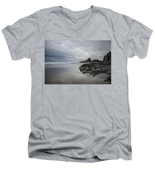 Cox Bay Afternoon  Men's V-Neck T-Shirt by Roxy Hurtubise