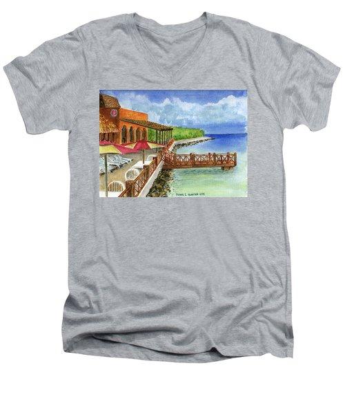 Cozumel Mexico Little Pier Men's V-Neck T-Shirt
