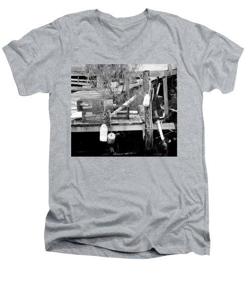 Crab Fishermans Still Life Men's V-Neck T-Shirt