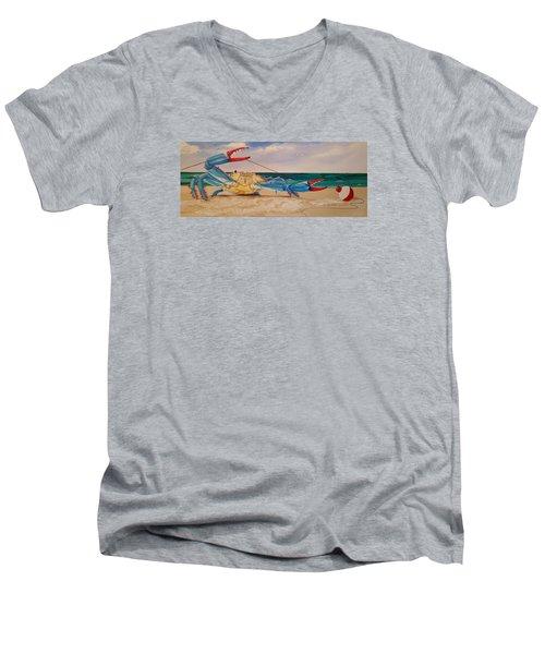 Crab Fishing Men's V-Neck T-Shirt