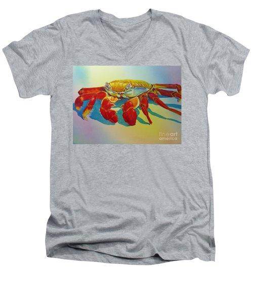 Colorful Crab  Men's V-Neck T-Shirt