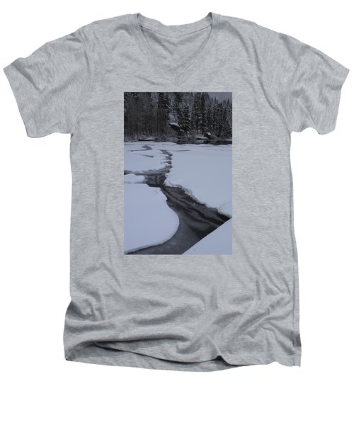 Cracked Ice  Men's V-Neck T-Shirt by Duncan Selby