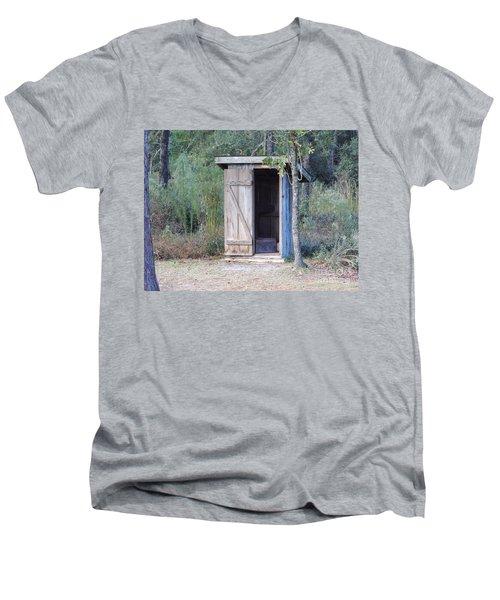 Cracker Out House Men's V-Neck T-Shirt