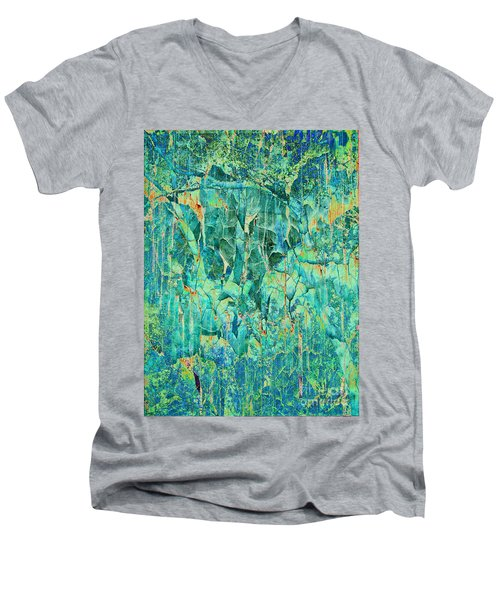 Cracks In Blue Men's V-Neck T-Shirt
