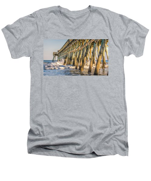 Men's V-Neck T-Shirt featuring the photograph Crash by Rob Sellers